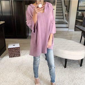 🎁BOGO🎁 Oversized Sweatshirt Hoodie Top Violet